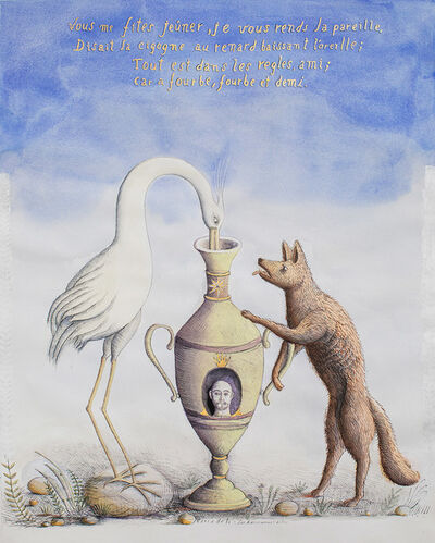 Alex Cerveny, 'A Cegonha e a Raposa [The Stork and the Fox]', 2019