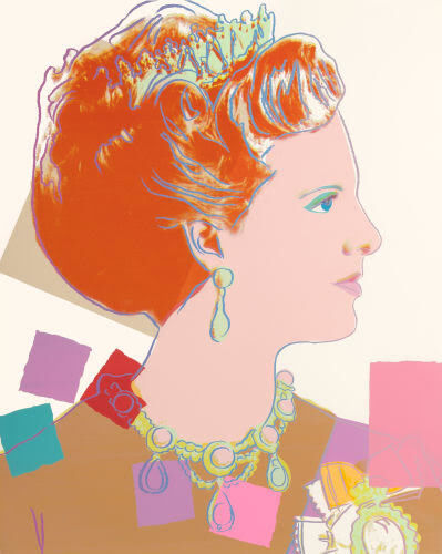 Andy Warhol, 'Queen Margrethe II, pale background (from Reigning Queens)', 1985