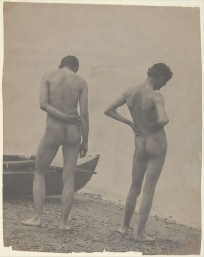 Thomas Eakins, '[Thomas Eakins and John Laurie Wallace on a Beach]', ca. 1883