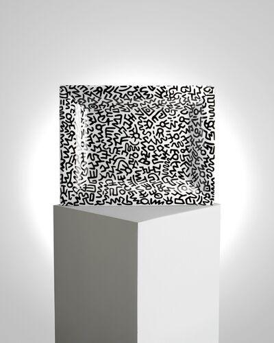 Keith Haring, 'Black Pattern Tray', ca. 2019