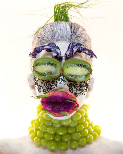 Martine Gutierrez, 'Masking, Green-Grape Mask, p51 from Indigenous Woman', 2018