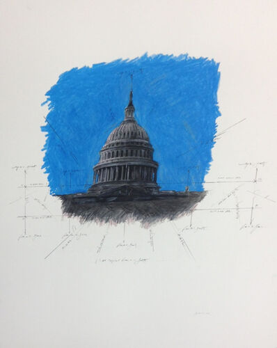 Grover Mouton, 'United States Capitol Dome in Space', 2014