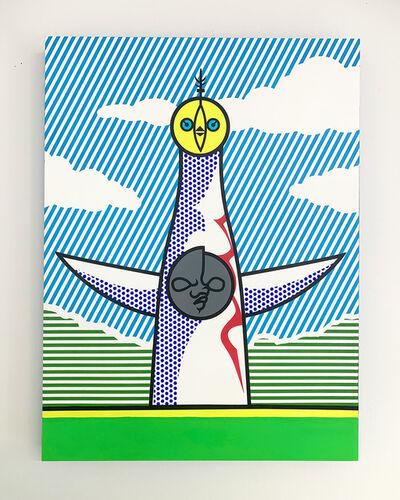 Joe Suzuki, 'Tower of the Sun  [Lichtenstein Style Series]', 2020