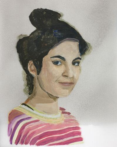 Niklas Eneblom, 'Girl in Striped Sweater', 2017