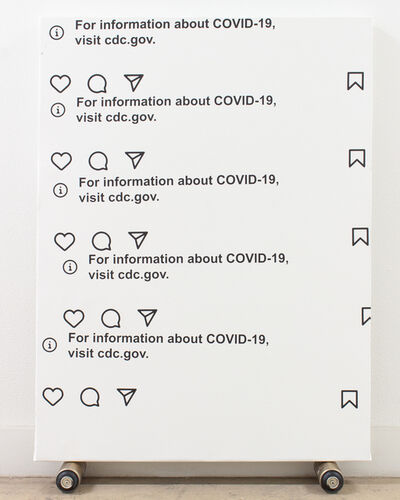 Mauro C. Martinez, 'For information about Covid-19, visit cdc.gov', 2021