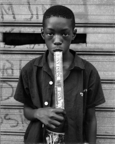 Dawoud Bey, 'A Boy Eating a Foxy Pop, Brooklyn, NY, 1988 ', 2014