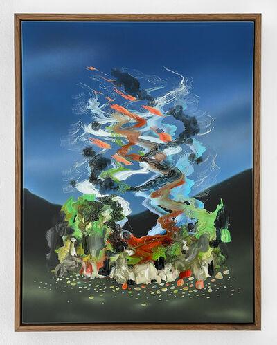 Zach Storm, 'Mirage (Indigo & Perylene Green Black)', 2020