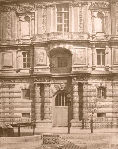 Édouard Baldus, 'Façade, Bibliothèque Impériale du Louvre', ca. 1854
