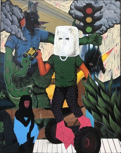 Rodel Tapaya, 'The Hooded Witness', 2019