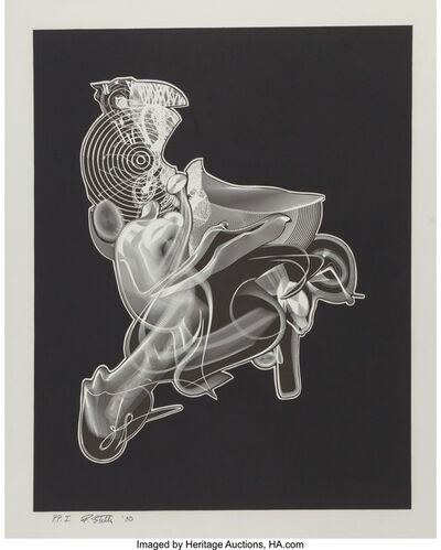 Frank Stella, 'Schwarze Weisheit #3', 2000