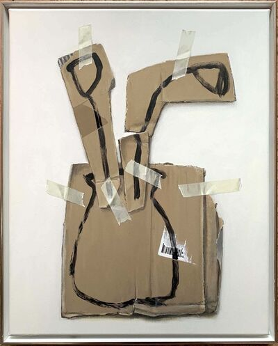 Sebastian Herzau, 'Zwei Blumen in Vase', 2020