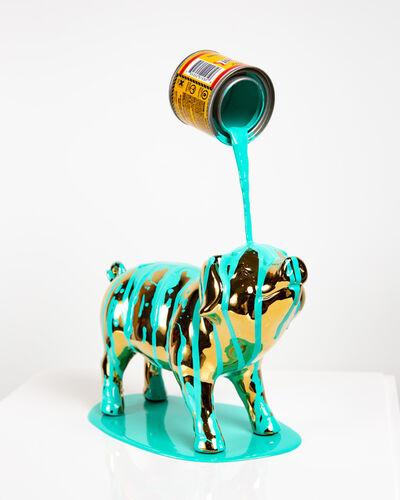 Joe Suzuki, 'Happy Accident Series - Pig (Turquoise)', 2020
