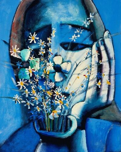 Charles Blackman, 'Blue Vase', 0000