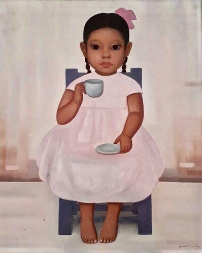 Gustavo Montoya, 'Niña Tomando Chocolate (Little girl drinking chocolate)', 1966
