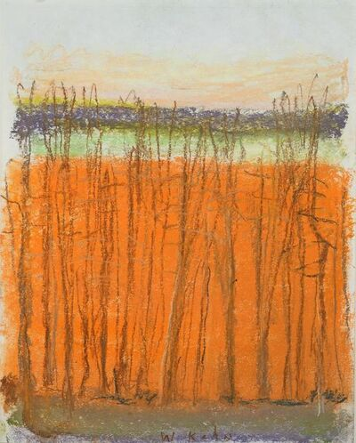 Wolf Kahn, 'Study for Orange Hillside', 2012