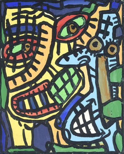Robert Combas, 'Plusieurs Têtes En Analyse', 1988