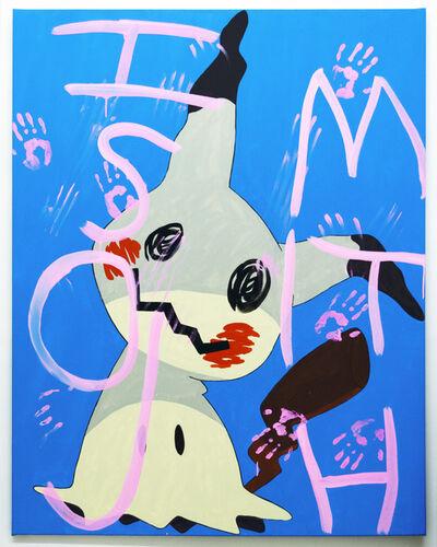 Michael Pybus, 'Mimikyu (cyan)', 2017