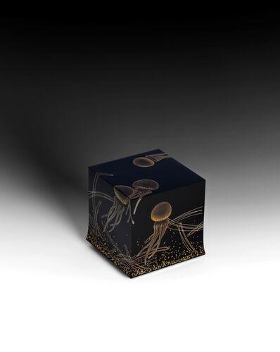 "Yoshio Okada, '""Swimming"" Box with Sprinkled Design of Jellyfish (T-4578)', 2020"