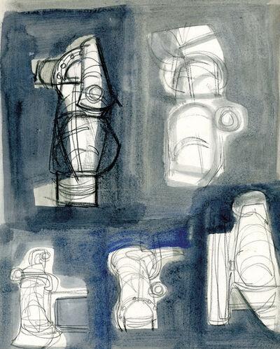 Prunella Clough, 'Five Studies of Pipes', 1953