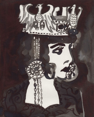 Gill Button, 'Luisa Casati as Empress Theodora (After an unknown photograph)', 2016
