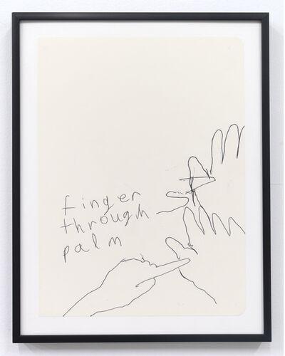 Emilie Gossiaux, 'Finger Through Palm', 2018