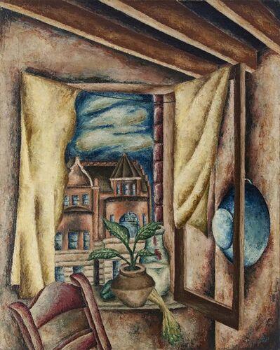 Eldzier Cortor, 'Rooftops on Wabash', 1938
