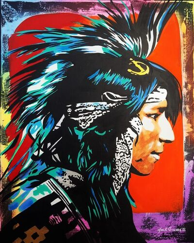 Jack Graves III, 'Native American Indian Icon', 2020