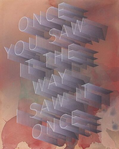 Ben Skinner, 'Once You Saw it The Way I Saw it Once', 2017