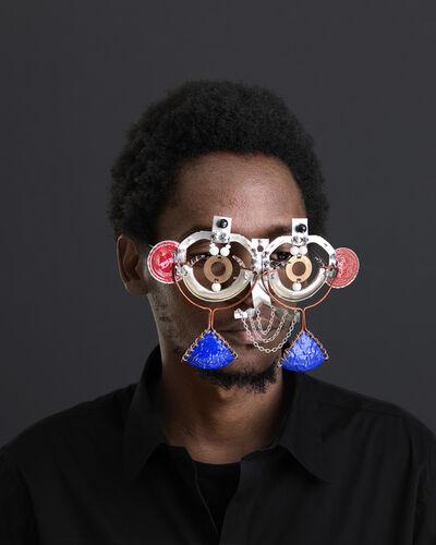 Cyrus Kabiru, 'Njia Ya Maisha, Macho Nne Coca-Cola Mask', 2015