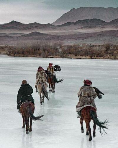 Jimmy Nelson, 'VI 468 - Kazachs on ice Altantsogts, Bayan Olgii,Mongolia', 2011