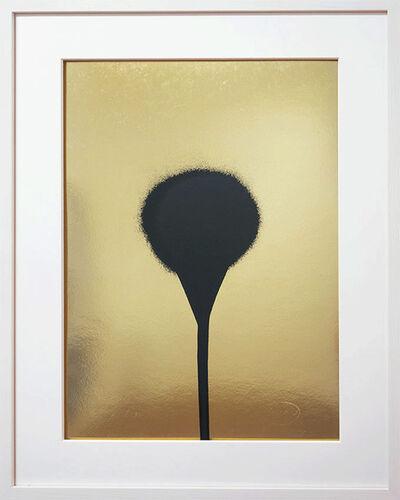 Otto Piene, 'Schwarz auf Gold', 1967