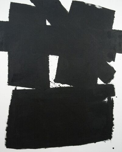 Tim Forbes, 'Wednesday - bold, black and white, abstract minimalist, acrylic on canvas', 2019