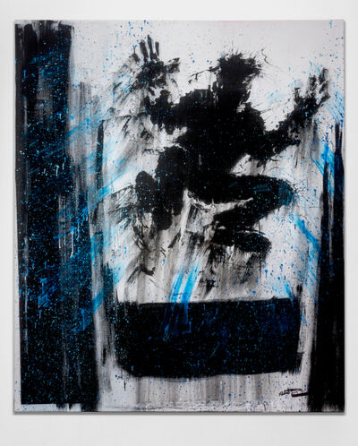 Richard Hambleton, 'Jumping Shadow With Blue Streaks', 2009