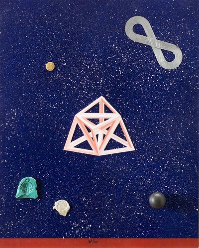 Lucio del Pezzo, 'Cielo & oggetti', 2003