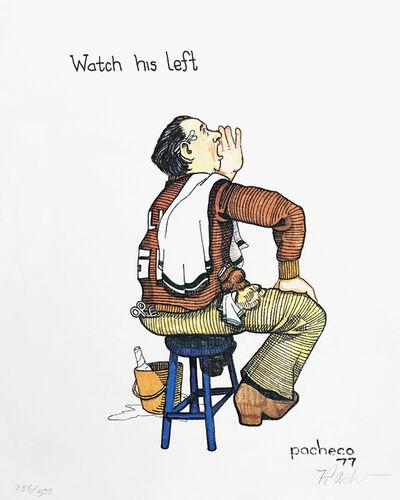 Ferdie Pacheco, 'WATCH HIS LEFT (BOXING)', ca. 1980