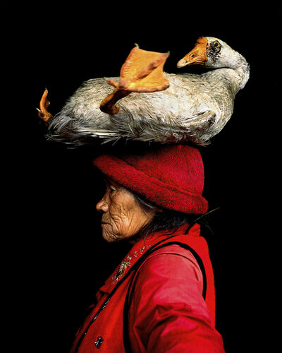 Cristina Mittermeier, 'Lady With The Goose'