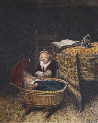 Nicolaes Maes, 'The Cradle', 1875
