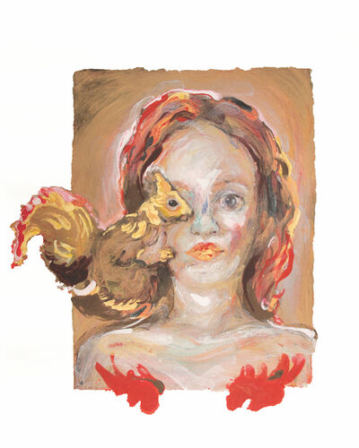 Natalie Frank, 'Woman with Squirrel', 2019