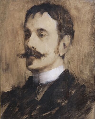 Lovell Birge Harrison, 'Portrait of William Rapp', ca. 1880