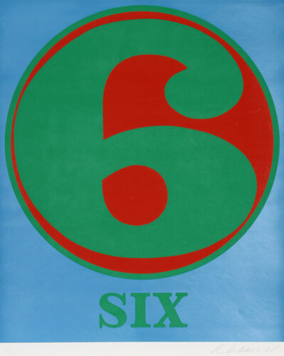 Robert Indiana, 'Number 6', 1968