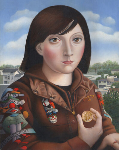 Amy Hill, 'Woman with Bitcoin', 2018