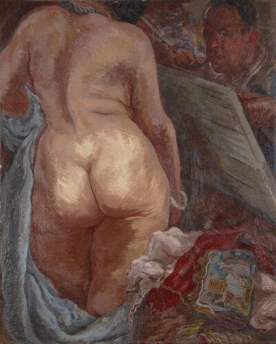 George Grosz, 'Selbstportrait mit Akt - Selfportrait with Nude', 1937