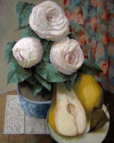 Pierre Lefebvre, 'Fleurs et poire', 2018