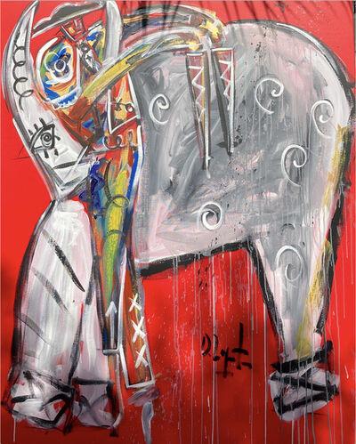 Domingo Zapata, 'Red Bullfighter', 2021