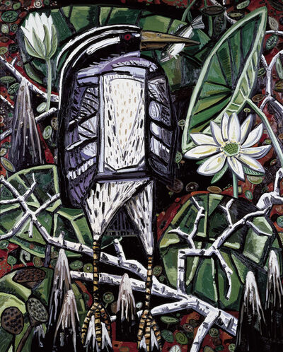 David Bates, 'Night Heron', 1986-1987