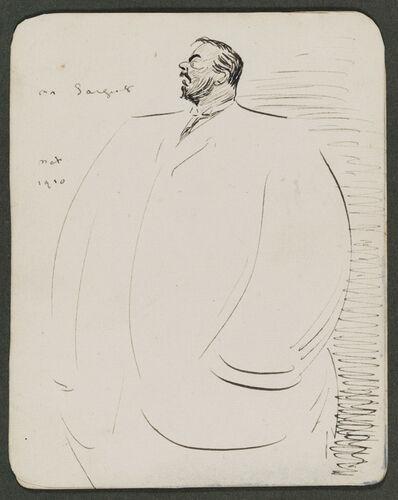 Max Beerbohm, 'Sketch of John S. Sargent'