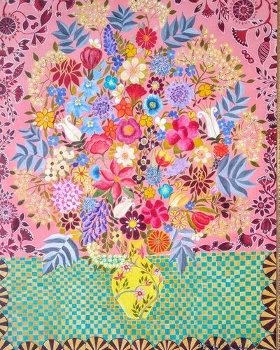 Hepzibah Swinford, 'Tapestry Flowers', 2018