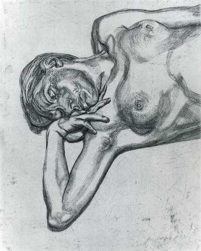 Lucian Freud, 'Head & Shoulders of a Girl', 1990