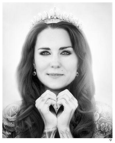 JJ Adams, 'Kate Middleton (black & white) [AP]', 2014