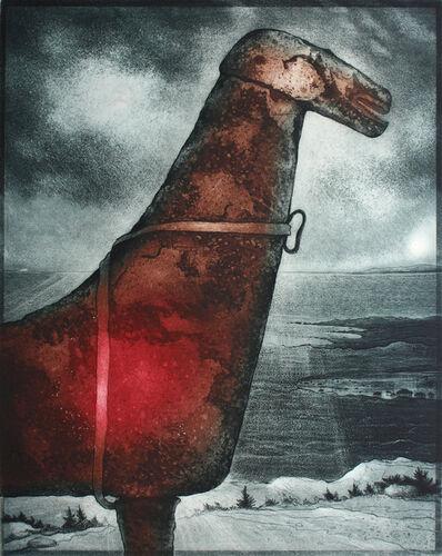 David Blackwood, 'John Stoke's Horse, Cape Freels', 2007